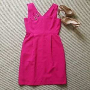 NWT Tahari Pink Crepe Cocktail Dress with Pockets